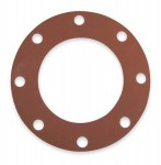 Full Faced Red Rubber Gasket